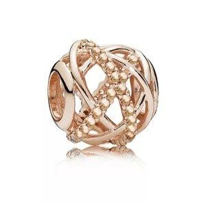 💜 2/$10 rose Gold bead for pandora Bracelet